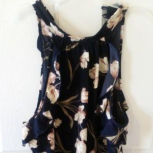 Floral print halter neck camisole blouse